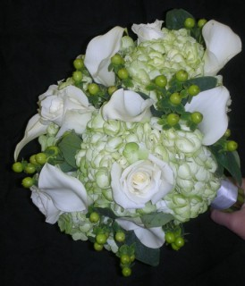 Green HydrangeaWhite Calla Lily Bouquet