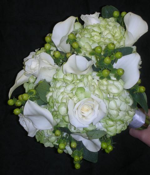 Green Hydrangea White Calla Lily Bouquet Upstate Flower Market