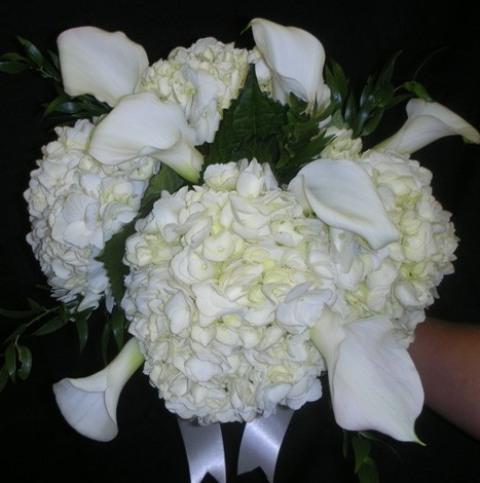 White Hydrangea Calla Lily Bouquet Upstate Flower Market